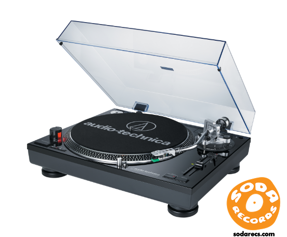 Audio-Technica AT-LP120BK-USB Record Turntable - USB - Black